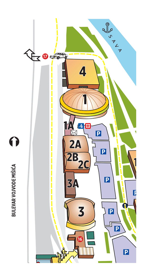 Map of the fair - Agro Belgrade